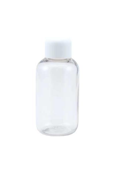 PET flacon 50 ml met witte dop (Zak à 15 stuks)