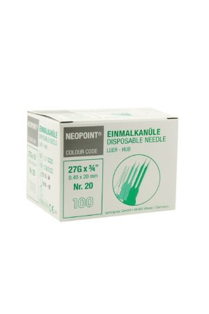 0074 1 300x450 - Neopoint Steriele Naaldjes Nr. 20 [Doos a 100 stuks] - disposables-verpakkingen