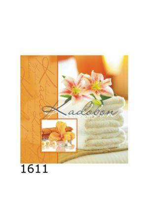 1611 1 300x450 - Kadobon Algemeen Handdoeken met bloem - 12 stuks - kadobonnen
