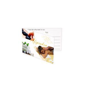 Ginkel's Afsprakenkaartjes – Massage Luxe – 48 stuks