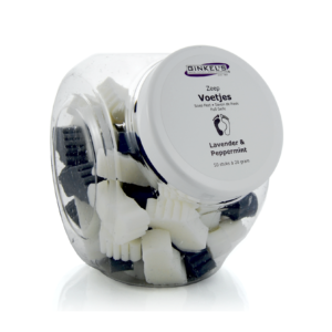 Ginkel's Foot Care – Zeepvoetjes Pepermunt & Lavendel [Displaypot à 50 stuks à 20 gram]