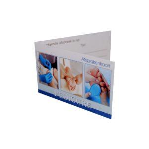 Ginkel's Afsprakenkaartjes – Pedicure Blauw – 48 stuks