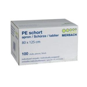 Merbach PE Schort – 80 x 125 cm [box à 100 stuks]