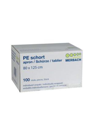 Merbach PE Schort – formaat 80 x 125 [pak/box à 100 stuks]