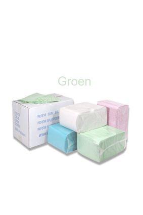 dental groen - Dental Towels / Beschermdoeken - GROEN [pak à 125 st.] - disposables-verpakkingen