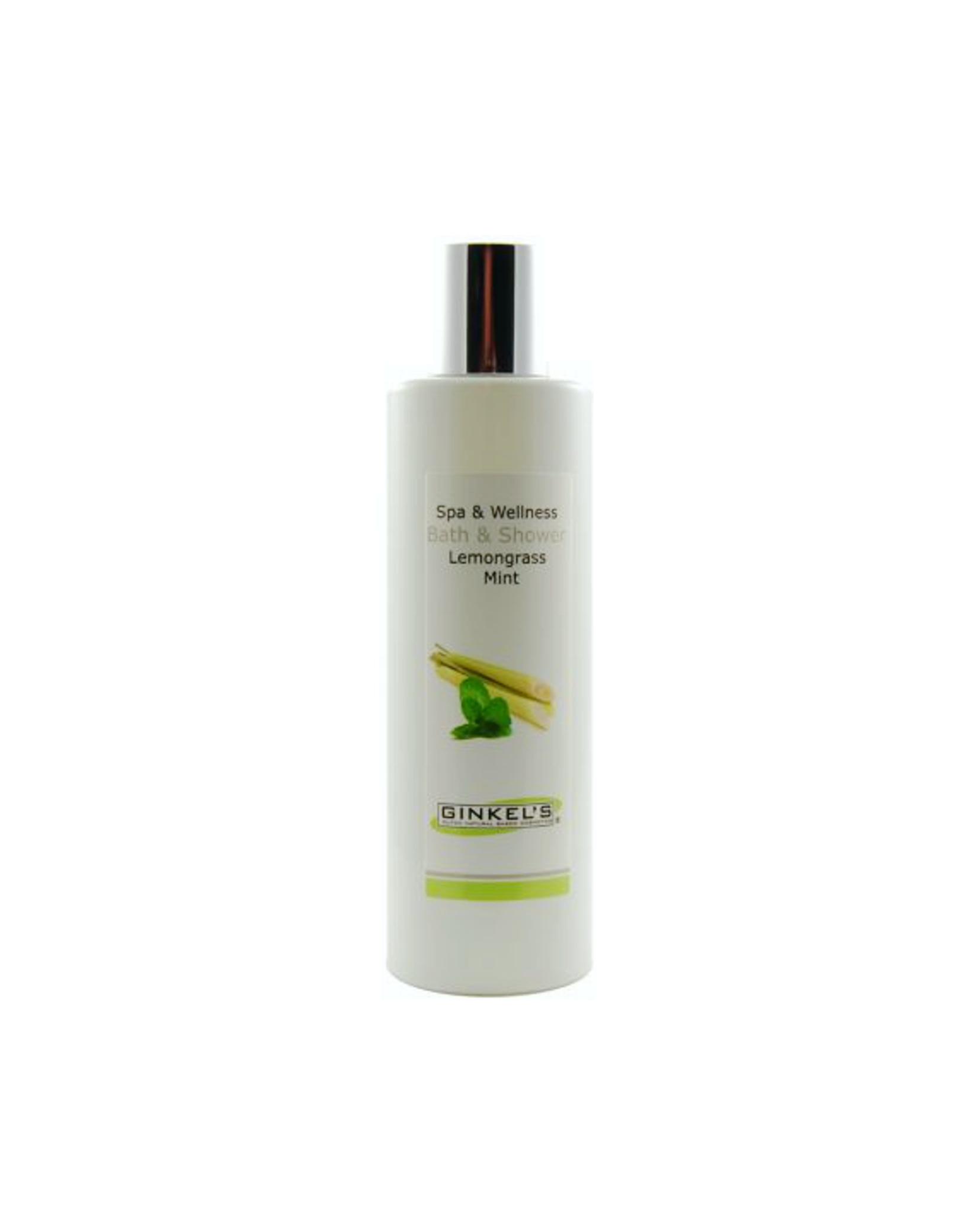 bath shower gel lemongrass mint 200 ml ginkels cosmetica. Black Bedroom Furniture Sets. Home Design Ideas