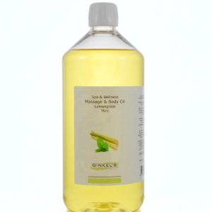 Massage & Body Oil – Lemongrass & Mint – 1000 ml