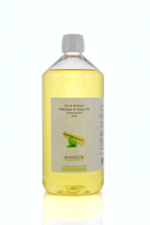 Massage & Body Oil – Lemongrass & Mint 1000 ml