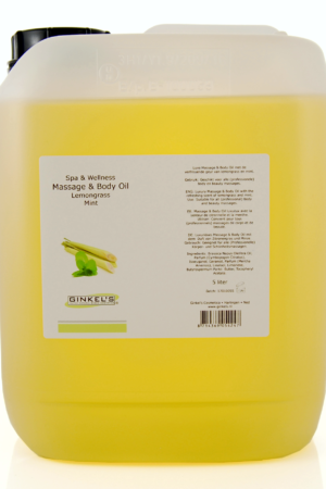 Massage & Body Oil – Lemongrass & Mint 5000 ml