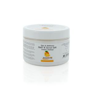 Bath & Scrub Salt – Sweet Orange – 600 gram