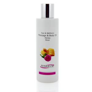 Massage & Body Oil – Honey & Rose – 200 ml