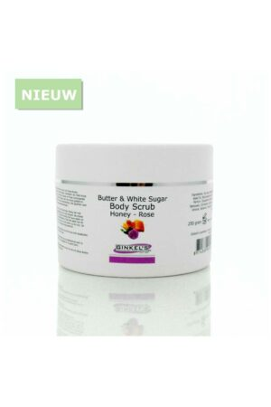 5845NEW 300x450 - Butter & White Sugar Body Scrub - Honey Rose 250 gr. - nieuw, honey-rose