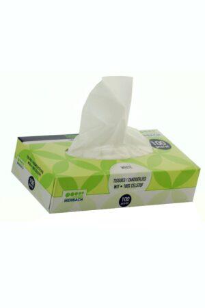 0070 300x450 - Merbach 2 laags Tissues wit doos 100 st. - nieuw, disposables-verpakkingen