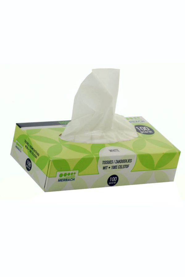 0070 600x898 - Merbach 2 laags Tissues wit doos 100 st. - disposables-verpakkingen