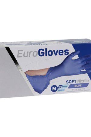 Handschoen Soft Nitrile – Maat S – BLAUW [Box à 100 stuks]